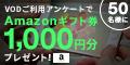 【PC対応】【SP対応】[無料]動画利用(VOD)に関するアンケートキャンペーン